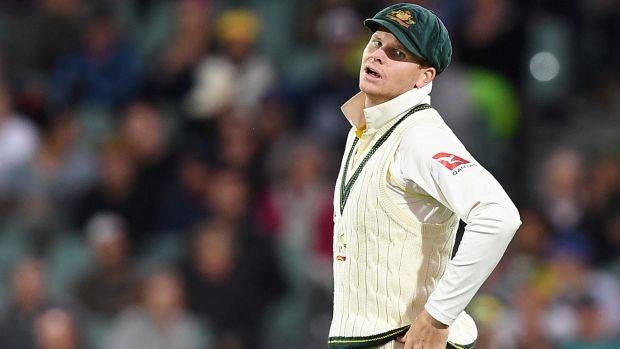 Australian skipper Steve Smith's frustration is clear after dropping a catch off England's Dawid Malan on Tuesday night.
