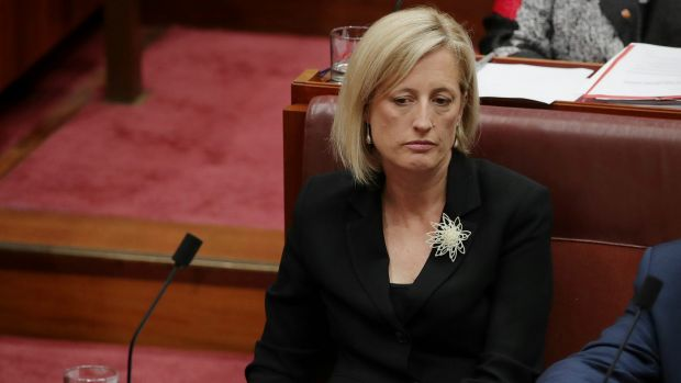 Katy Gallagher in the Senate last week.