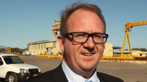 FILE PHOTO: NEWS-NCH Shadow Assistant Minister for Defence David Feeney visiting Australian ship building company ...