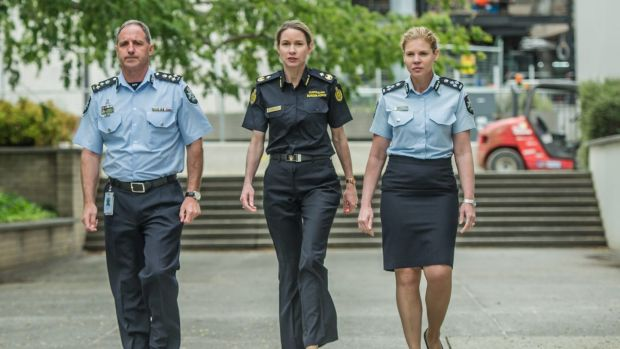 Mark Walters, ACT Policing Deputy Chief police officer commander, Sharon Huey of Australian Border Force, the Acting ...