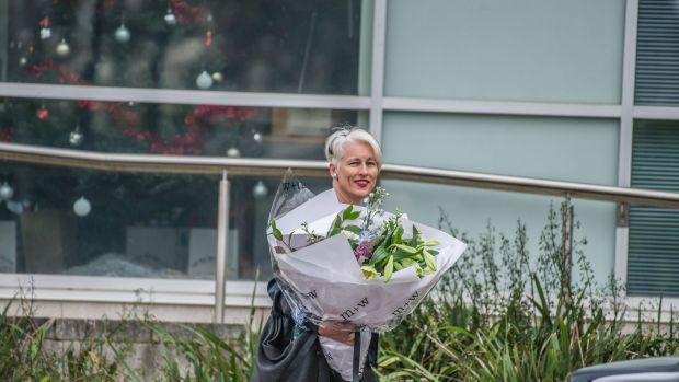 Genevieve Jacobs leaving ABC headquarters in Dickson on Wednesday after announcing she would not be back in 2018 as she ...