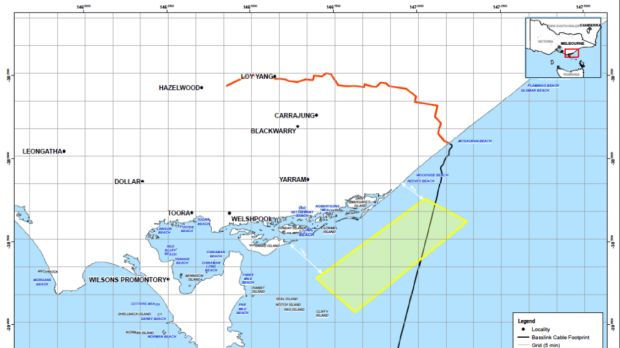 Offshore Energy\'s exploration map