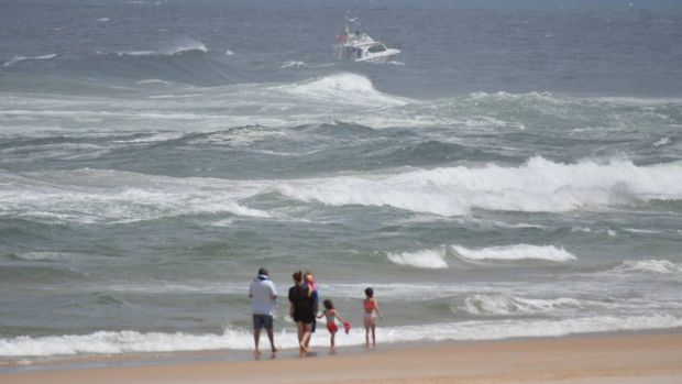 The 11-year-old went missing about 1.30pm in rough conditions at Lighthouse Beach.