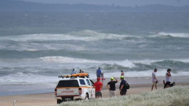 Crews are searching for a boy missing at Lighthouse Beach at Port Macquarie.
