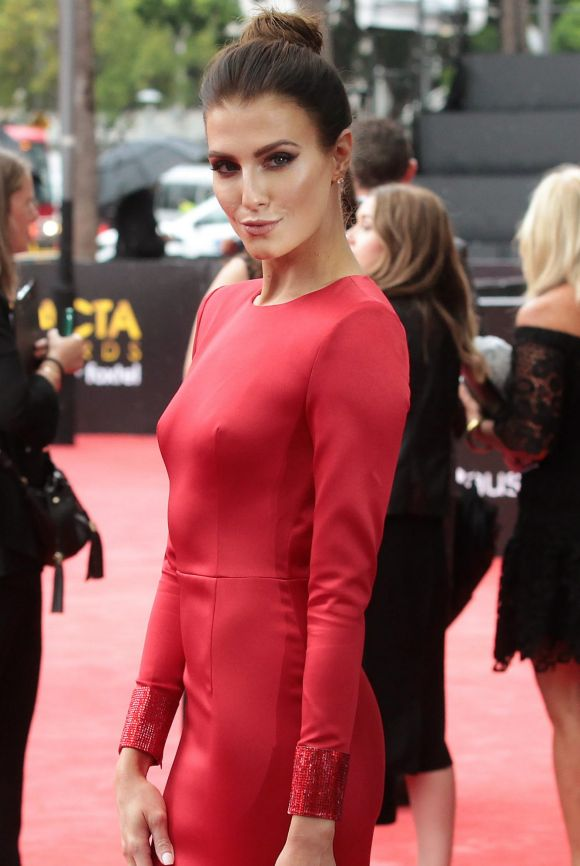 Erin Holland arrives at the AACTA (Australian Academy of Cinema and Television Arts) Awards at The Star.