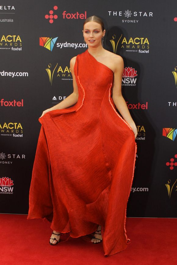 Ksenija Lukich arrives at the AACTA (Australian Academy of Cinema and Television Arts) Awards at The Star.