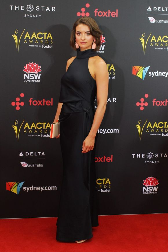 Celia Massingham arrives at the AACTA (Australian Academy of Cinema and Television Arts) Awards at The Star.