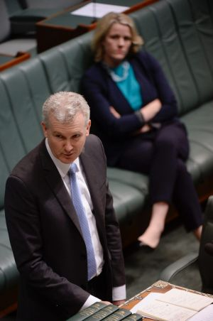 Manager of opposition business Tony Burke speaks in the House of Representatives on Wednesday.