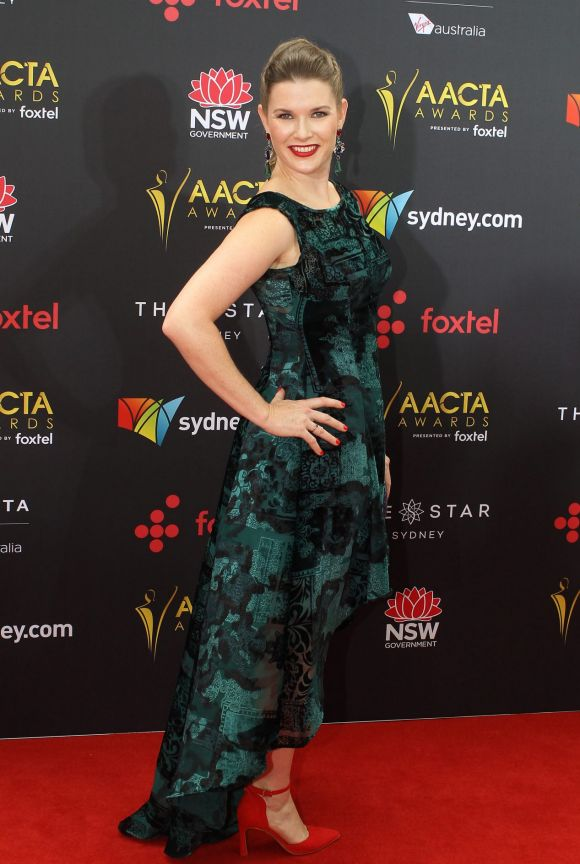 Jana Wilkes arrives at the AACTA (Australian Academy of Cinema and Television Arts) Awards at The Star