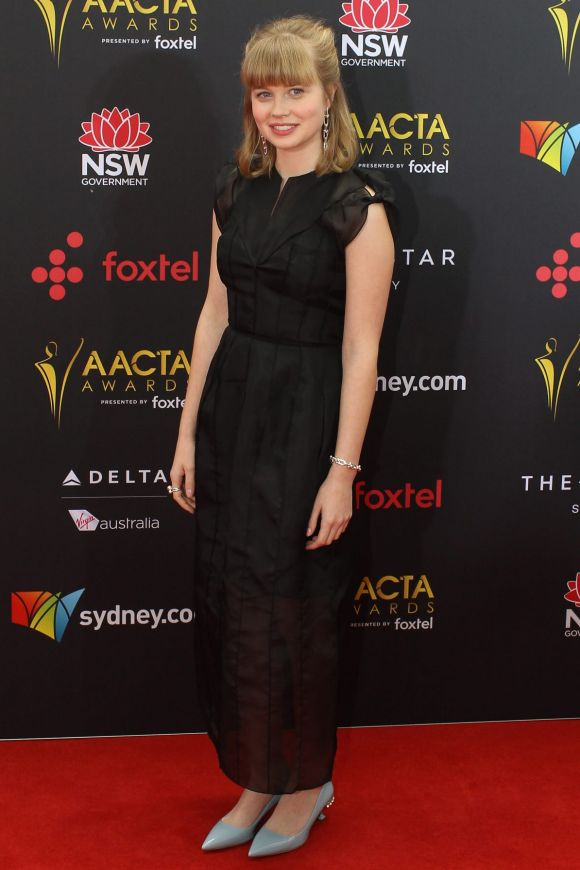 Angourie Rice arrives at the AACTA (Australian Academy of Cinema and Television Arts) Awards at The Star.
