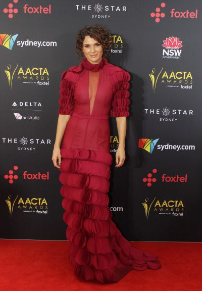 Danielle Cormack arrives at the AACTA (Australian Academy of Cinema and Television Arts) Awards at The Star.