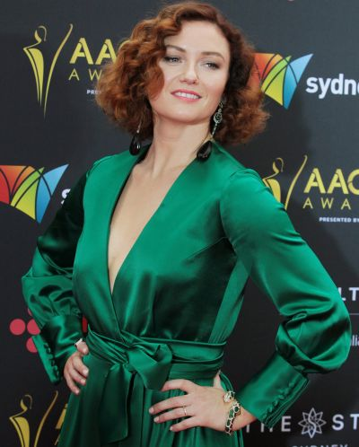 Alison McGirr arrives at the AACTA (Australian Academy of Cinema and Television Arts) Awards at The Star.