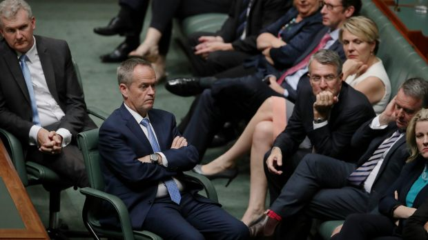 Opposition Leader Bill Shorten and Shadow Attorney-General Mark Dreyfus during a Labor resolution in the House of ...