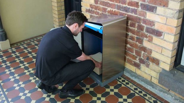 Australia Post's smart mailbox Receva sits on your porch and only opens for authorised parties.