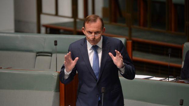 Tony Abbott speaking on the same-sex marriage legislation on Thursday.