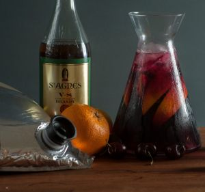 One cask of wine will service multiple sangria batches.