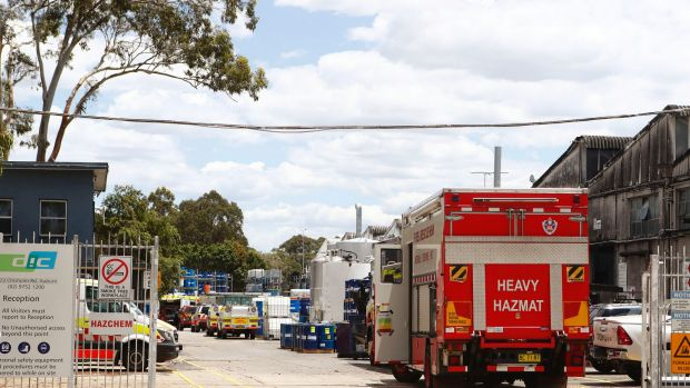 Three men were trapped in an ink vat at a factory in Auburn on Thursday morning, sparking an emergency response from ...