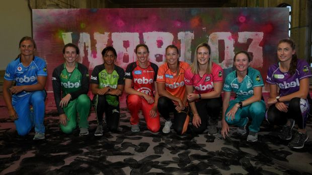 Jam-packed: The Women's Big Bash was launched in Sydney on Thursday morning.