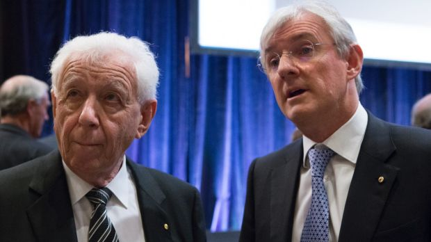 Despite FFA's congress proposal being voted down, Steven Lowy (right), the successor to his father Frank Lowy (left) as ...