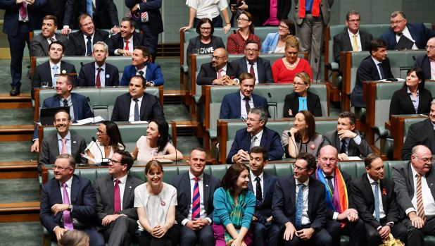 The House of Representatives just before the passing of the same sex marriage law.