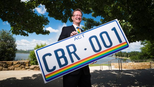 Gordan Ramsay annoucing the new rainbow number plates.
