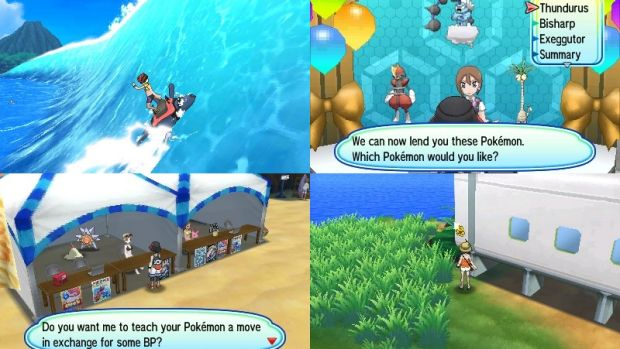Some of the new features include surfing with Mantine, renting powerful Pokemon, cashing in battle points to learn new ...