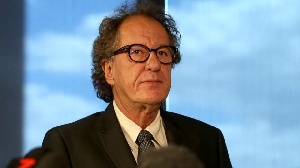 Geoffrey Rush is suing the newspaper over the front-page story.