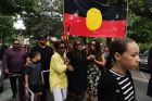 Funeral of Aboriginal land rights and health activist, Solomon Bellear, Sol Bellear AM at Redfern Oval, Redfern. ...