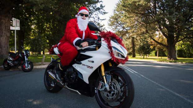 Jack McTackett was one of the hundreds of motorcyclists who took part in the Toy Run.