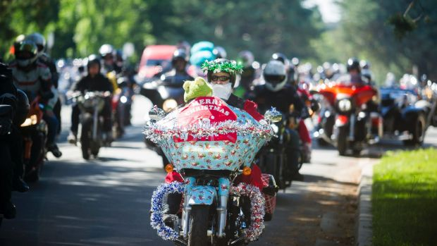 ACT Motorcyclists Riders Association holding its annual Toy Run.