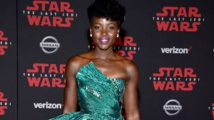 Lupita Nyong'o at The Last Jedi premiere in Los Angeles
