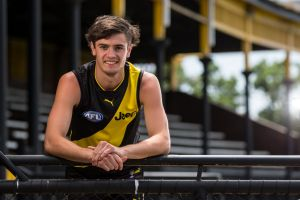 Naish would rather play footy than worry about what number he wears.