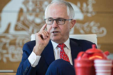 Prime Minister Malcolm Turnbull in his Sydney office.
