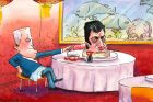 Matt Golding Captioned 'Lazy Sam' we see Dastyari's head on a lazy susan with Turnbull wheeling it towards him and ...