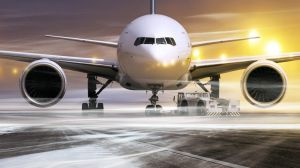 Many flights were disrupted from heavy snowfall.
