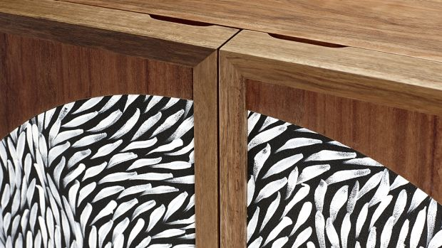 The Chloe Cabinet, by Chloe Walbran, features woven pandanus.