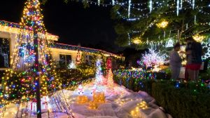 Nigel and Mary-Ann Biginell have transformed their house into a christmas wonderland. Photo: Dion Georgopoulos