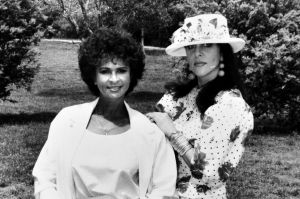 Melissa Williams (left) and Marie Bray-Pearson opened a modelling agency together in Canberra. (1992)