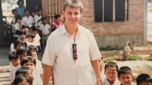 Tim Fischer's picture of Tony Wright in a refugee camp in Nong Khai, north-eastern Thailand, early 1987.