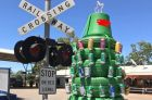 A slightly inappropriate Christmas tree in Balgo.