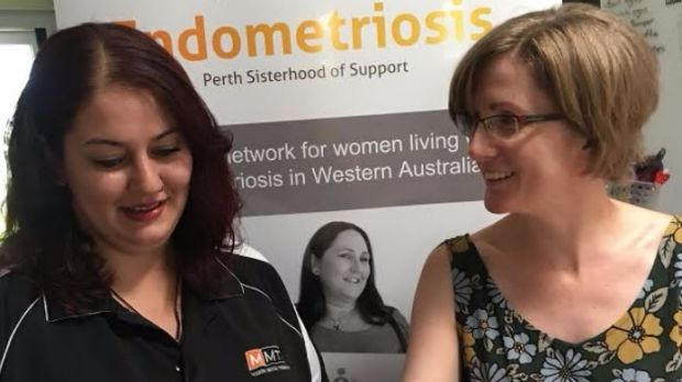 Monique Alva and Joanne McCormick run an online support group for endometriosis sufferers in Perth.
