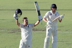 Fighting back: Dawid Malan celebrates his maiden Test century in his eighth appearance.