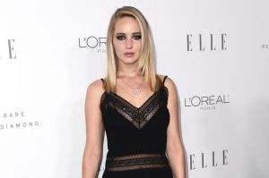 Jennifer Lawrence at the annual Women in Hollywood Elle Awards.