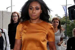 Paulini arriving at court on Friday.