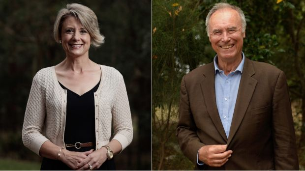 Labor candidate for Bennelong Kristina Keneally, and Liberal candidate John Alexander.