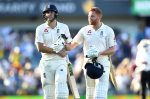 True grit: England's Dawid Malan (right) and Jonny Bairstow (left) battled for truly stirring centuries.