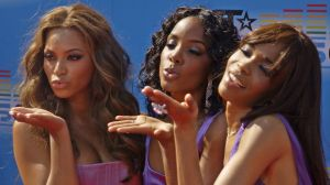 Destiny's Child members Beyonce Knowles, Kelly Rowland and Michelle Williams in 2005.