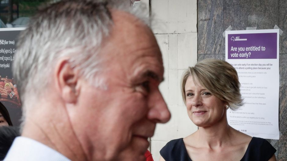 Liberal candidate for Bennelong, John Alexander and Labor candidate for Bennelong, Kristina Keneally, at the Epping ...