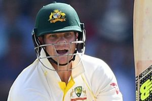 Man of the moment: Steve Smith is on the verge of another century.