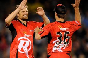 Aghast: Dirk Nannes, seen here playing with the Renegades, says the spot-fixers in Bangladesh sat with the crowd, with ...
